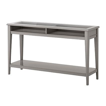 Consolle Vetro Ikea.Ikea Liatorp Tavolo Consolle Grigio Vetro 133 X 37 Cm