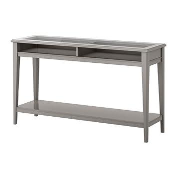 Ikea Liatorp Table Console Gris Verre 133 X 37 Cm Amazon Fr
