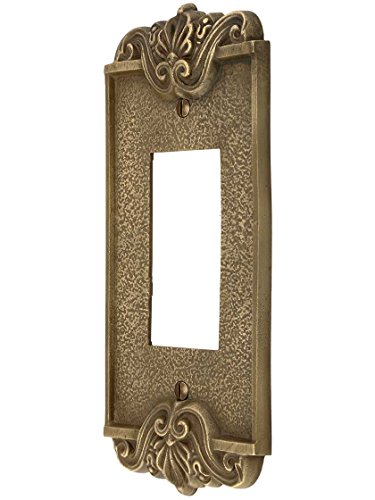 - Art Nouveau Single Gfi Cover Plate In Antique-By-Hand Finish