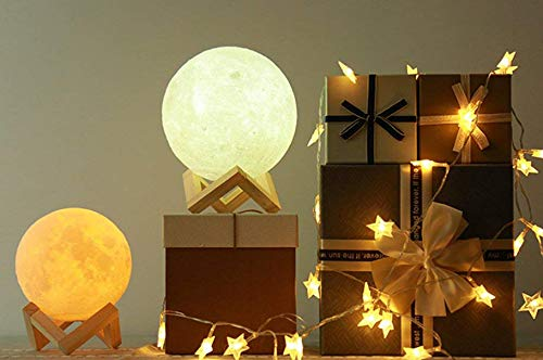 ACED 7.1 Inch Large Moon Lamp Touch Sensor Control Color Changing Dimmable Baby Night Light LED Rechargeable Battery Operated Cordless Full Moon Lamp Ambient Light for Bedroom, Father's Day Gifts