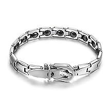New Mens Womens Power Titanium Magnetic Belt Style Bracelet Balance Body Energy