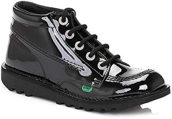 CORE Ladies Patent Leather Boots Black