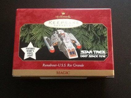 QXI7593 Runabout U.S.S. Rio Grande Star Trek Deep Space Nine 1999 Hallmark Kepsake Ornament -