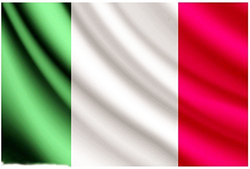 Aimto 3x5 ft Italy Flag - Bright Colors And Anti-Fading Materials - Italian Flags Polyester Canvas And Brass Buttonhole - Quality - Bikinis Italian