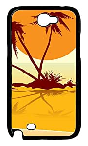 Samsung Galaxy Note II N7100 Case and Cover -Busy Beach PC case Cover for Samsung Galaxy Note II N7100¨CBlack