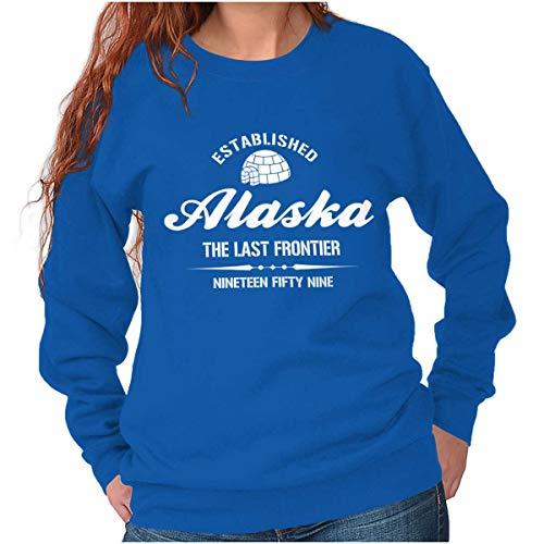 Alaska State - Icon Printed Crewneck Sweatshirt - Royal