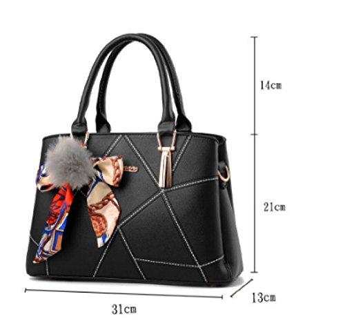 31 Moda Tracolla Bag E 13 JPFCAK Burgundy Borse Nuove Coreana Inverno Semplici Borse Versione Messenger 21cm Autunno nnv68qI