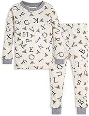 Burt's Bees Baby-Girls Pajamas, 2-Piece Pj Set, 100% Organic Cotton (12 Mo-7