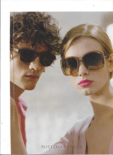 PRINT AD For 2008 Bottega Veneta Brown - Sunglasses Veneta
