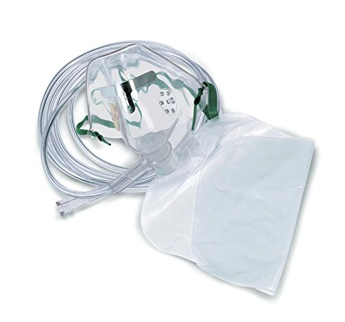 SA8130 - Adult Oxygen Mask w/Soft Anatomical Form,Each