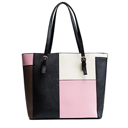 Women Tote Shoulder bag Leather for Bag Black Hobo Bag Large Travel Bag Bag Shooping Hobo Tote wawXTtvq