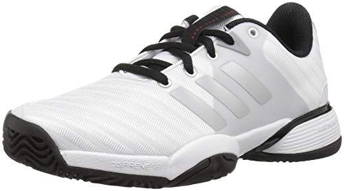 adidas Unisex Barricade 2018 Running Shoe, White/Matte Silver/Black, 6 M US Big Kid