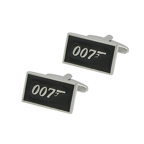 James Bond 007 Color Cufflinks with Giftbox (James Bond Girl Costumes Halloween)