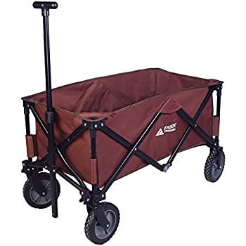 Leader Accessories Folding Outdoor Utility Wagon Collapsible Sports Beach wagon (5 cu. ft.) - Brown