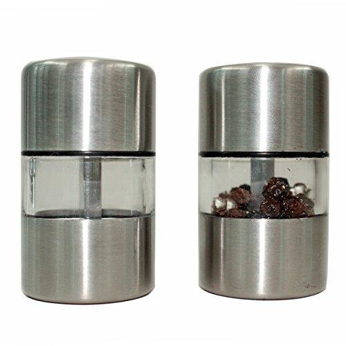 UPC 711717863542, Tifan Mini Salt and Pepper Grinders - Stainless Steel Pepper mill 2 pcs
