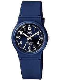 Relógio Infantil Masculino Azul Marinho Q&Q Ponteiros Prata