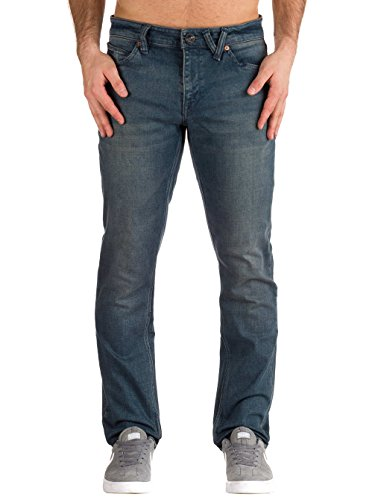 Volcom Men's Vorta Slim Fit Stretch Denim Jean, Cosmic Blue, 32X32 (Jeans Slim Volcom)
