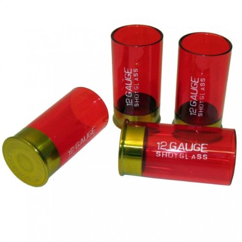 SHOTGUN SHELL SHOT GLASSES 4-PIECE SET Merchandise 24/7