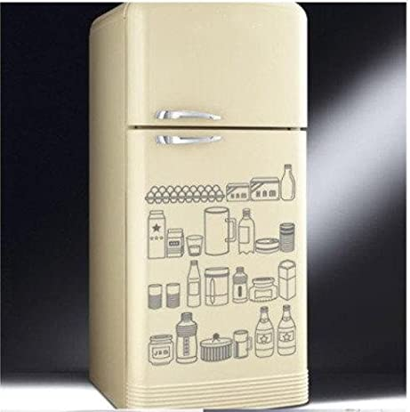 Fridge food bottle bottles grass milk refrigerator home art decals wall sticker vinyl wall decal stickers
