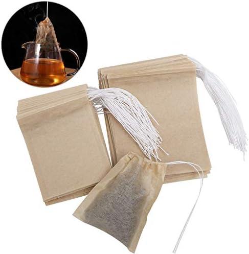 9 * 7 cm y 7 * 5.5 cm OUNONA 200pcs bolsas de te desechables bolsas de filtro para t/é de hojas sueltas