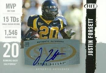 Autograph Warehouse 63816 Justin Forsett Autographed Football Card California 2008 Sage Hit No. A77 ()