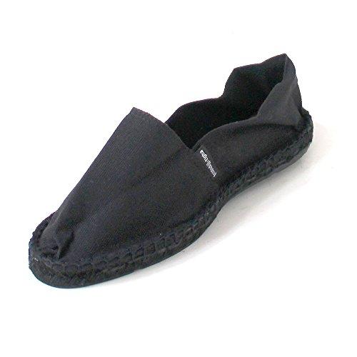 ESPADRIJ L'ORIGINALE Unisex Le Noir Cotton Espadrilles Noir