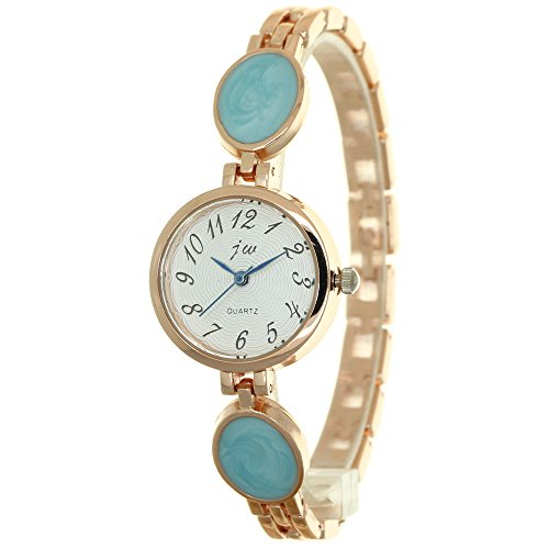 Oval Bead Jewelry Watch Band New Women's Crystal Analog Wrist Quartz Dress Watch Lady Bracelet Bangle Stainless Steel Wristwatch (Bangle Watch Bracelet Quartz)
