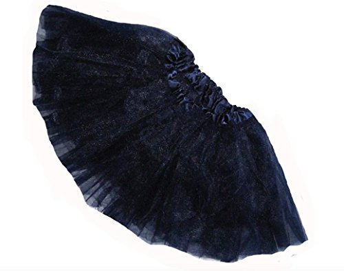 Infant Cheerleader Costumes (Southern Wrag Company Little Girls Tutu - Short - Baby to 6X (Toddler: 9in Long, Navy))