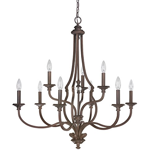 Capital Lighting 4709BB-000 Nine Light Chandelier