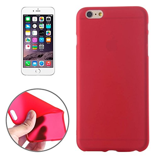 Phone Taschen & Schalen Frosted TPU Fall für iPhone 6 Plus & 6S Plus ( Color : Red )