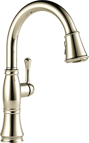 Faucet 9197 PN DST Pull Down Kitchen Polished