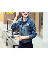 Beautifullight Great,Good looking Fashion Chaqueta Mujer Streetwear Slim Denim Jacket Women Long Sleeve Jeans