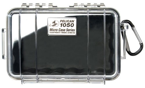 Waterproof Case | Pelican 1050 Micro Case - for iPhone, cell phone, GoPro, camera, and more (Black/Clear)