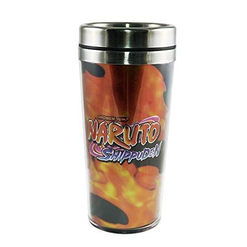 Naruto Shippuden OFFICIAL Uchiha Sasuka Foil-Printed Travel Coffee Mug Thermos