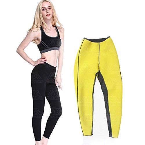A Point Neoprene Yoga Shaper Fat Burner Sport Pants Activewear Leggings Anti-cellulite Weight Loss For Women (L(10-12))