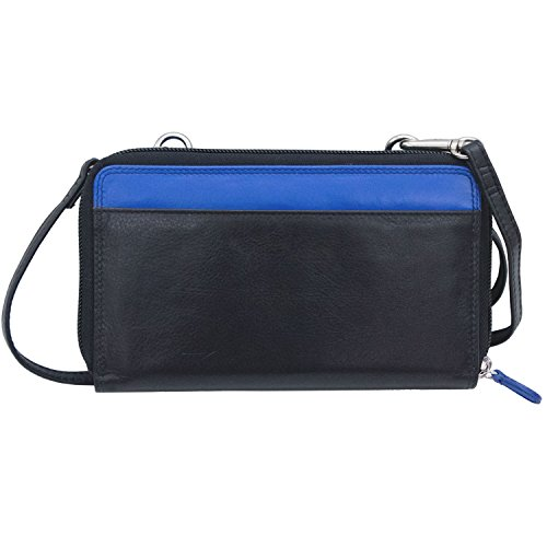 Lining New with 6364 Black Cobalt Blocking Grey ili Wallet RFID York Crossbody Smartphone zgzYdqw