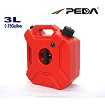 PEDA 3L Portable Fuel Tank Jerrycan Plastic Petrol Tanks Mount Motorcycle/Car Gas Can Gasoline Oil Container Fuel-jugs Spout Refueling hose