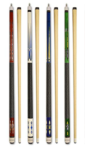 Set of 4 Pool Cues New 58
