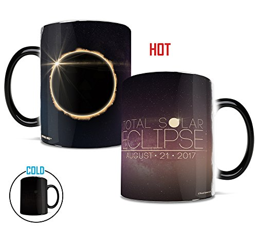 Morphing Mugs Total Solar Eclipse 2017 Heat Reveal Ceramic Coffee Mug   11 Ounces