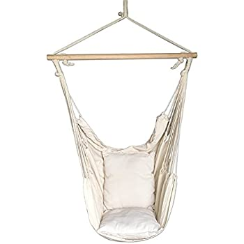 Amazon.com : Sorbus Hanging Rope Hammock Chair Swing Seat for Any ...