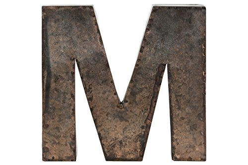 "Urban Trends Metal Alphabet Wall Decor Letter ""M"" Galvanized"