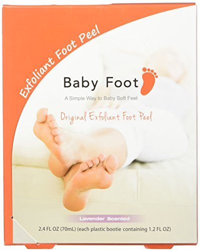 Baby Foot Exfoliant Foot Peel, Lavender Scented, 2.4 Fl. Oz.(2 pack)