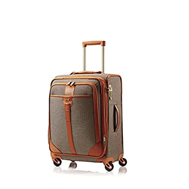 Hartmann Herringbone Luxe Softside Carry On Expandable Spinner, Terracotta Herringbone, One Size