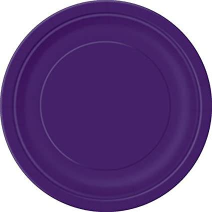 Dark Purple Paper Cake Plates 20ct  sc 1 st  Amazon.com & Amazon.com: Dark Purple Paper Cake Plates 20ct: Kitchen \u0026 Dining