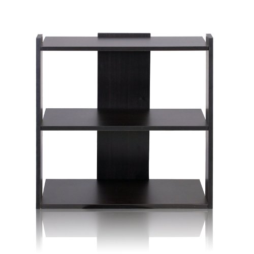 Furinno 11074EX Hidup Tropika Mini Ladder Shelf, Espresso (Bookshelf Espresso Small)