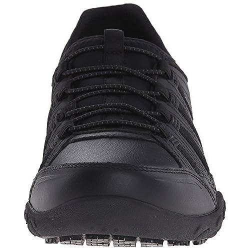 df3c96504b2 on sale Skechers for Work Women s Bungee Slip Resistant Lace-Up Sneaker