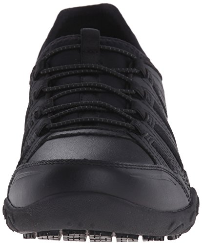 Lace Work Skechers Bungee Women's Sneaker up Slip Black for Resistant U5qqTnYP