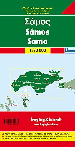 Samos Map Amazoncouk Freytag Berndt 9783850845861 Books