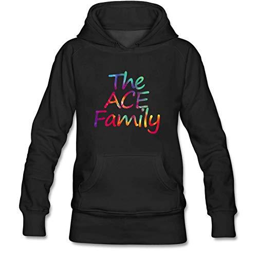 - Julongcul Unisex Women Men Tie Dye Youtuber Ace Family Hoodie Sweatshirt L Black