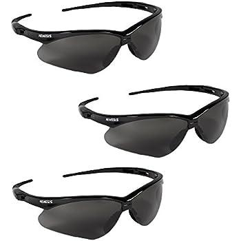 Low Ship! Red Frame Dark Safety Glasses 6 pr